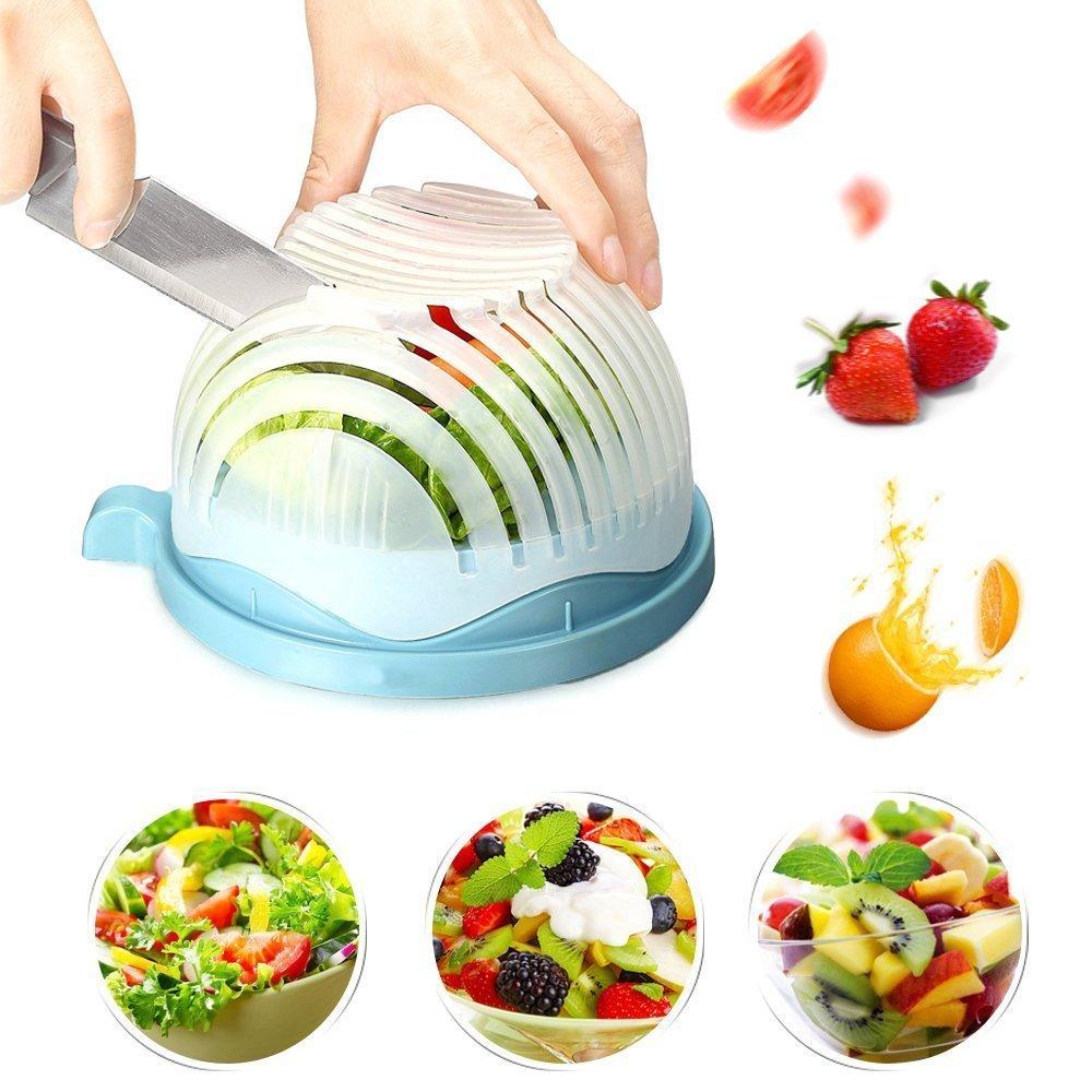 Amazon.com | 60 Second Salad Maker Perfect Salad Cutter Bowl Easy ...