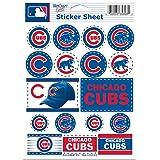 "MLB Chicago Cubs Vinyl Sticker Sheet, 5"" x 7"""