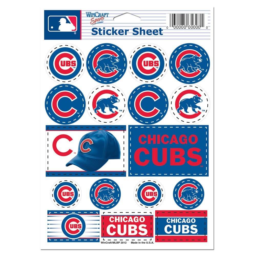 Amazoncom MLB Chicago Cubs Vinyl Sticker Sheet X - How to price vinyl decals