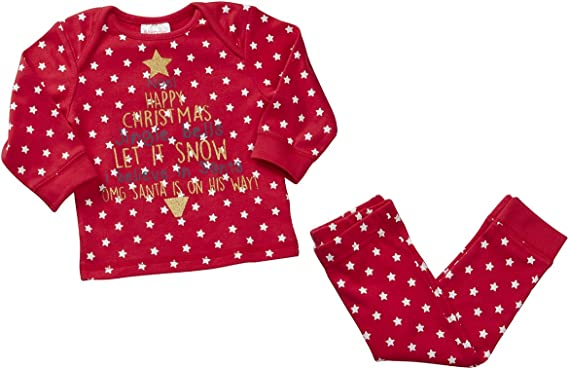 Babytown Unisex Babies Christmas Themed Pajama Set