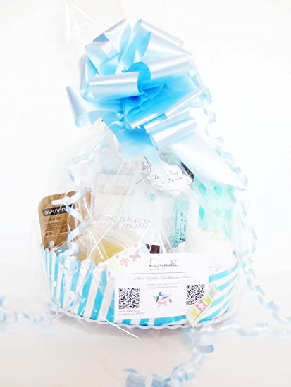 MAXI Canastilla SUAVINEX | Regalo Original para Bebé | Incluye 6 productos SUAVINEX + un Maxi Cupcake (1 body de ALGODÓN de marca + 1 pañal DODOT) | ...