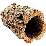 Bra korkrör gjord av ren korkbark, 20 cm lång, 15 cm hög, också idealisk som en korkterrariumdekoration