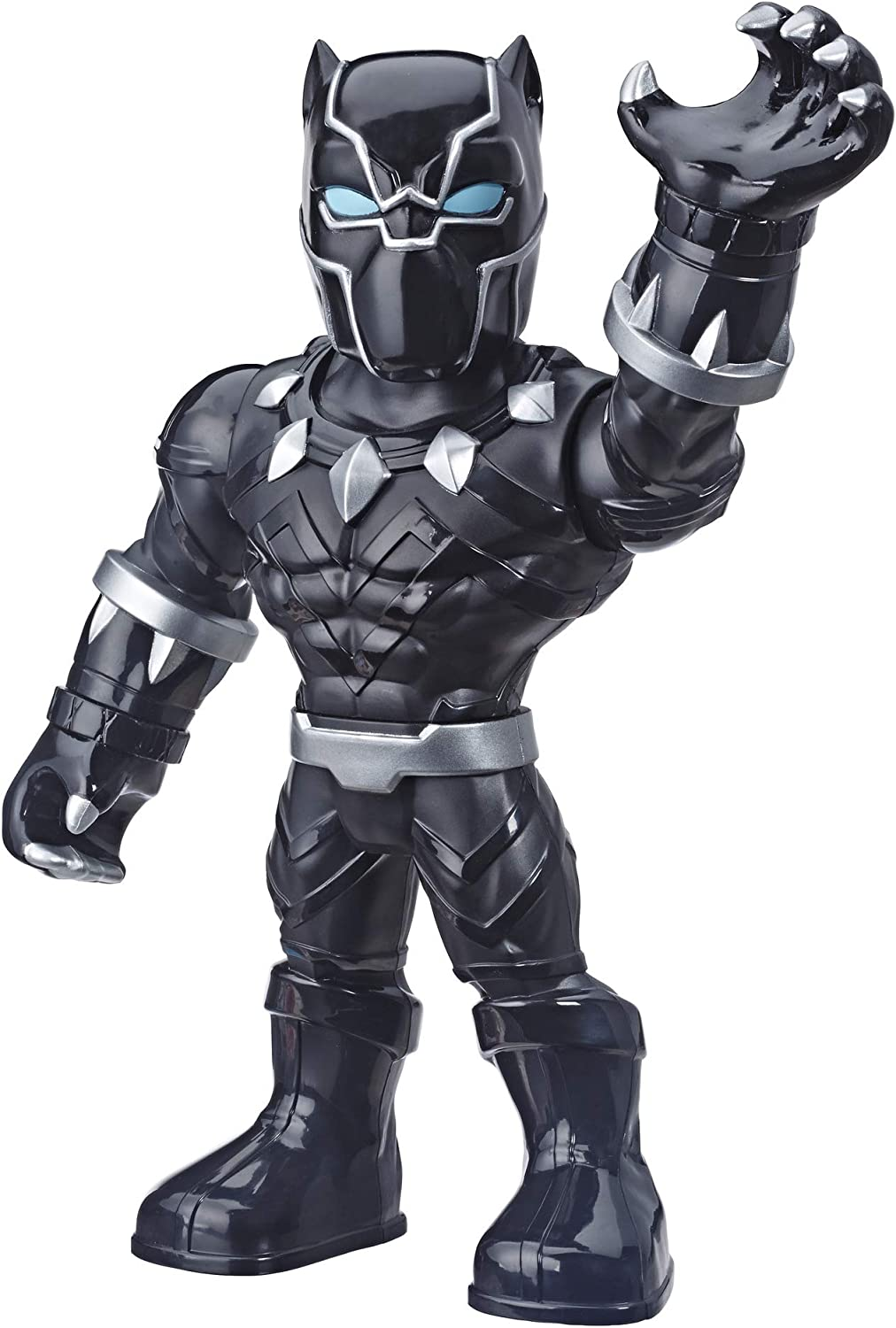 """Playskool Heroes Marvel Super Hero Adventures Mega Mighties Black Panther Collectible 10"""" Action Figure, Toys for Kids Ages 3 & Up"""