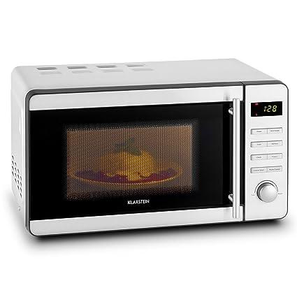 Klarstein Stella Prima microondas • microondas con Parrilla • 800 W de microondas • 1000 W de Parrilla • 20 l de cámara de cocción • Seguro para niños ...