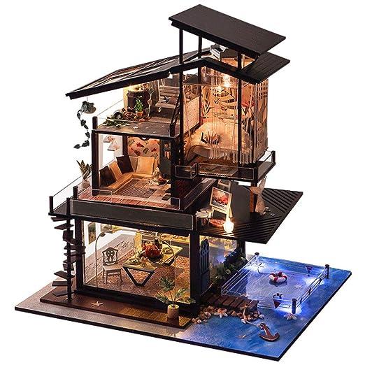 Casa de muñecas Casa de muñecas DIY Modelo Casa romántica de San ...
