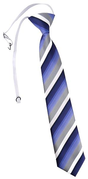 TigerTie - Corbata - Rayas - para niño blau dunkelblau grau weiss ...