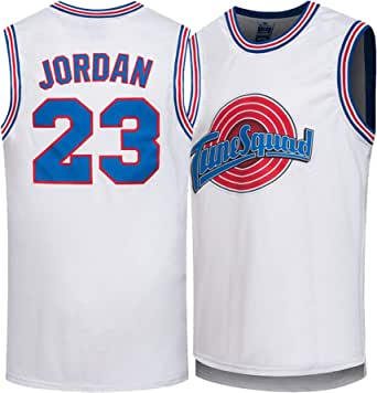 Jordan Movie Space Jam # 23 Camiseta de Baloncesto para Hombre, Camisetas de Baloncesto Bordadas Unisex Retro, Chaleco sin Mangas, Camiseta Deportiva ...