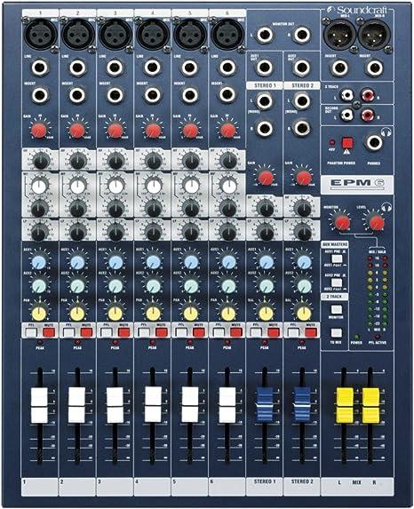 Soundcraft EPM6 - Mezclador: Amazon.es: Instrumentos musicales
