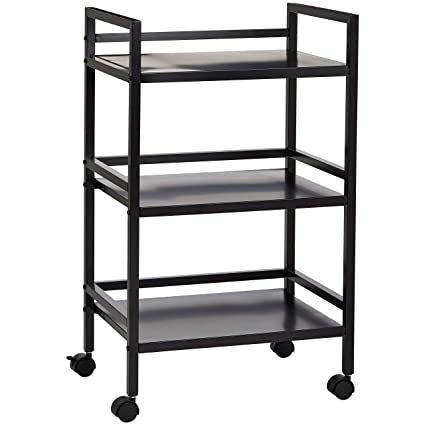 46a940d28d91 AmazonBasics 3-Tier Metal Rolling Cart