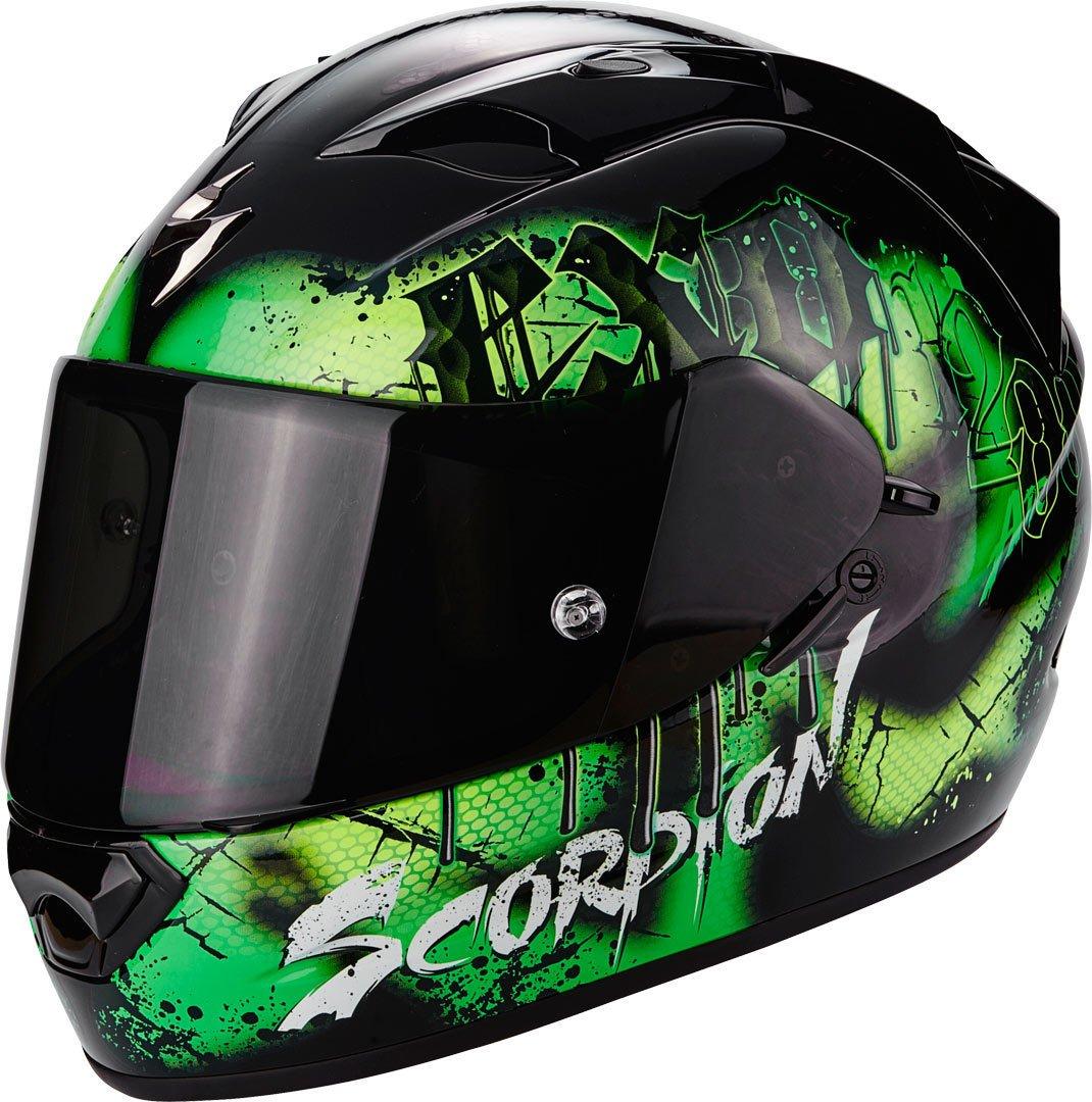 L SCORPION Casque Moto EXO-1200/AIR tenebris Black//Green