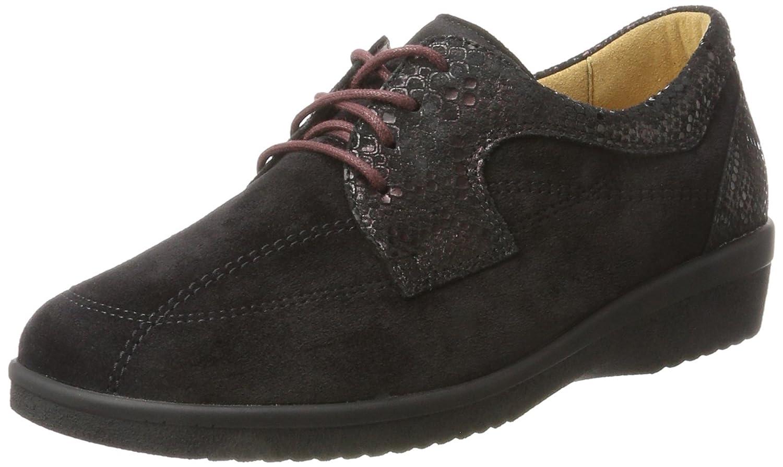 Ganter Sensitiv Inge-I, Zapatos Derby Mujer 40 EU|Negro (Schwarz/Vino)