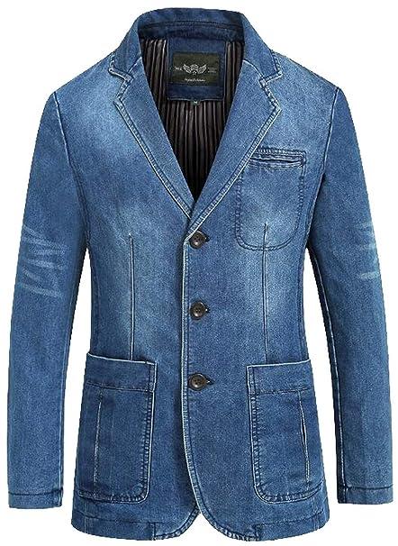 Chaqueta De Traje De Algodón De Los Hombres 2 Chaqueta Clásico De Traje  Slim Blazer Coat ebcf94598a6