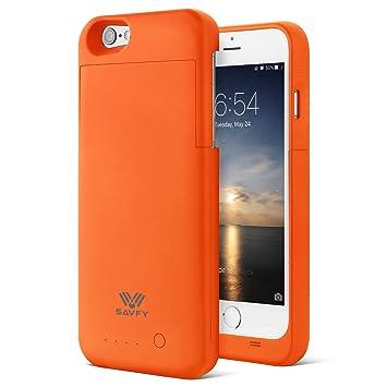 [Apple MFi Certificado] Funda Batería iPhone 6 / 6s, SAVFY 3200mAh Case Carcasa con Batería Cargador-batería con indicador LED de nivel de batería ...