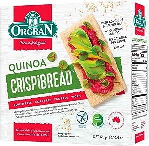 Orgran Gluten Free Toasted Quinoa Crispibread - 4.4 oz