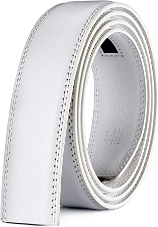 Men Ratchet Belt Strap 35mm Wide X XHtang Leather Belt Straps without Buckle