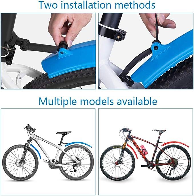 CHUER Guardabarros Bicicleta Guardabarros Retr/áctil de Bicicletas Conjunto de Bicicleta de Monta/ña Delante y Guardabarros Trasero Guardabarros Ajustable Bicicleta Port/átil para MTB