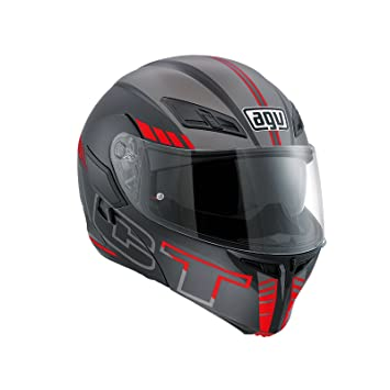 AGV Casco de moto Compact St E2205 Multi PLK, Seattle Matt Black/Silver/
