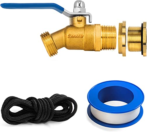 Renator P72-02440G Brass Spigot for Rain Barrel. Lead-Free Compliant, 3/4