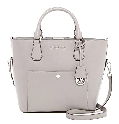 341a8dfb23 Michael Kors Greenwich Large Grab Bag Silver  Handbags  Amazon.com