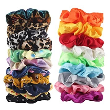 Women Solid Colour Velvet Scrunchies Lady Elastic Headbands Hair ties