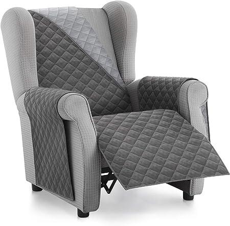 Textilhome Housse Fauteuil Protecteur Malu Taille 1 Places Relax Housse Matelasse Reversible Couleur Grey Amazon Fr Cuisine Maison