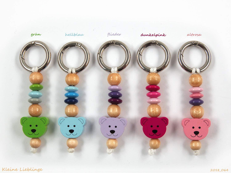 Schlü sselanhä nger - mit Namen mö glich - Kinder - Erwachsene - Taschenbaumler - Bä r Teddy - Schlü sselring - verschiedene Farben