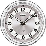 Casio Round Resin Analog Wall Clock (29.8 cmx29.8 cmx4.8 cm, Silver)