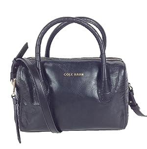 Cole Haan Isabella II Leather Mini Satchel, Black