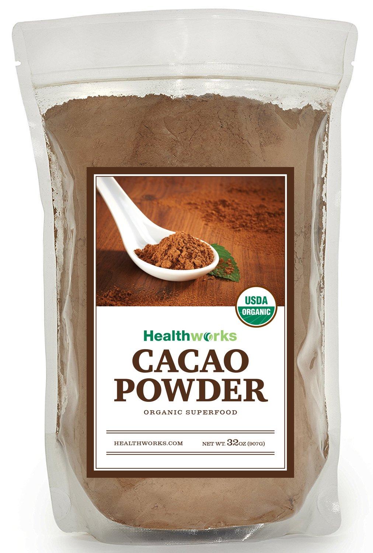 Healthworks Cacao Powder Organic, 2lb by Healthworks