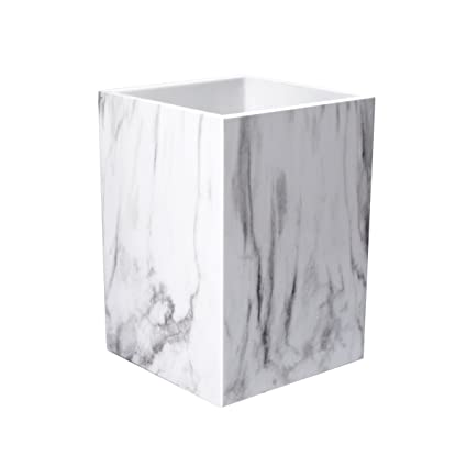 58a6751c5c6 UNIQOOO Marble Print Desk Pen and Pencil Holder Case Box with Fashionable  Modern Design in Elegant