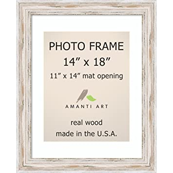 Amazon.com: Picture Frame, 14x18 Matted to 11x14 Alexandria White ...