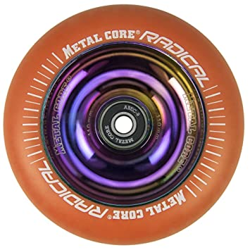 Metal Core Rueda Radical Rainbow para Scooter Freestyle, Diámetro 110 mm (Naranja): Amazon.es: Deportes y aire libre