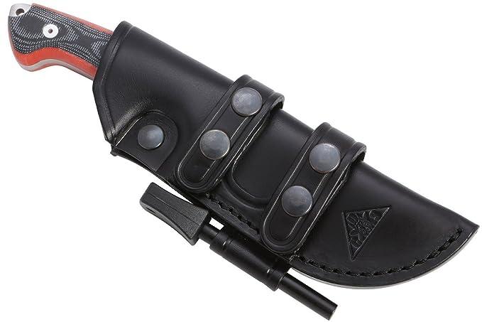 18 opinioni per AXARQUIA ONE- Lama in acciaio MOVA-58 (HRC 56-58) . Fodero per Cintura in pelle