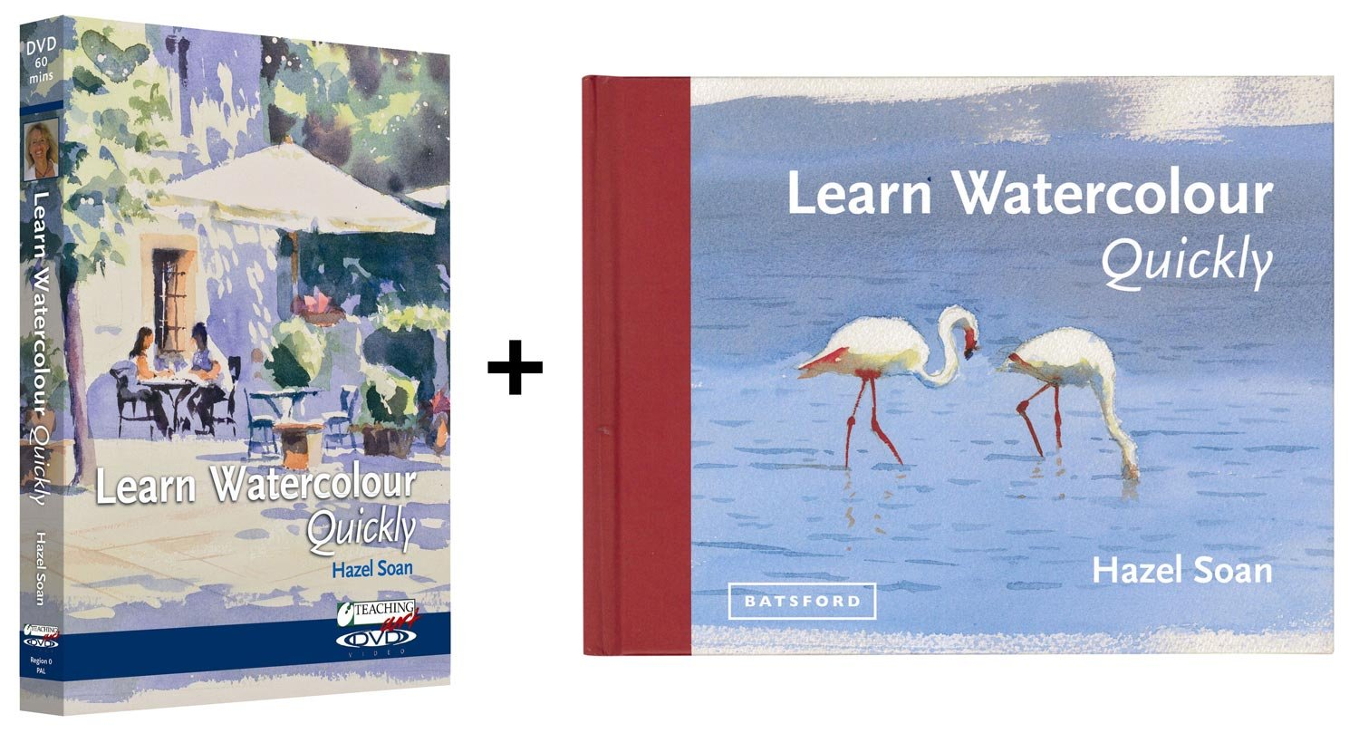 Learn Watercolour Quickly Book & DVD set with Hazel Soan by SAA, The Society for All Artists by Teaching Art
