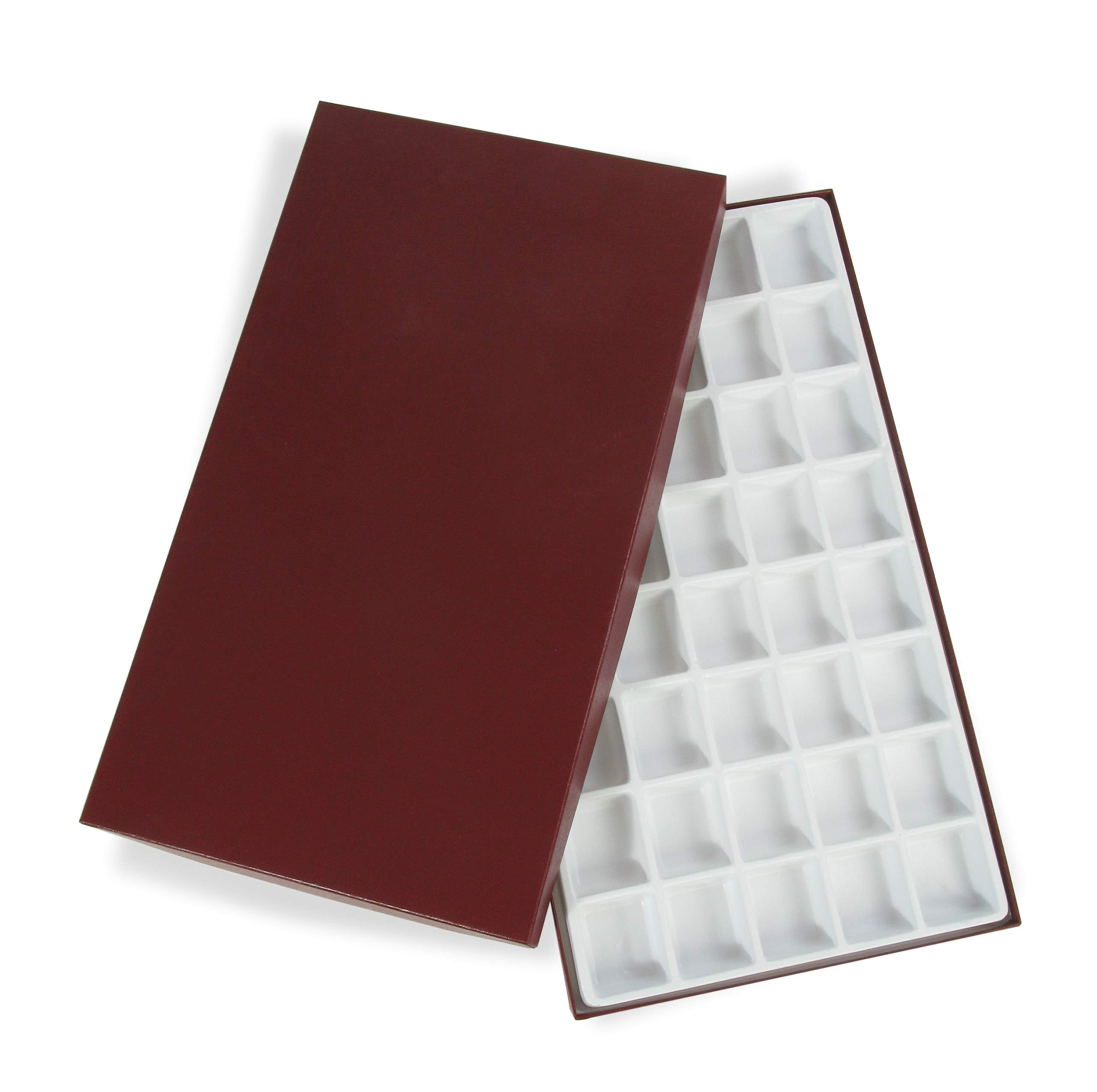 American Educational Polystyrene 40 Cell Storage Box with Tray for Rock and Mineral Specimens