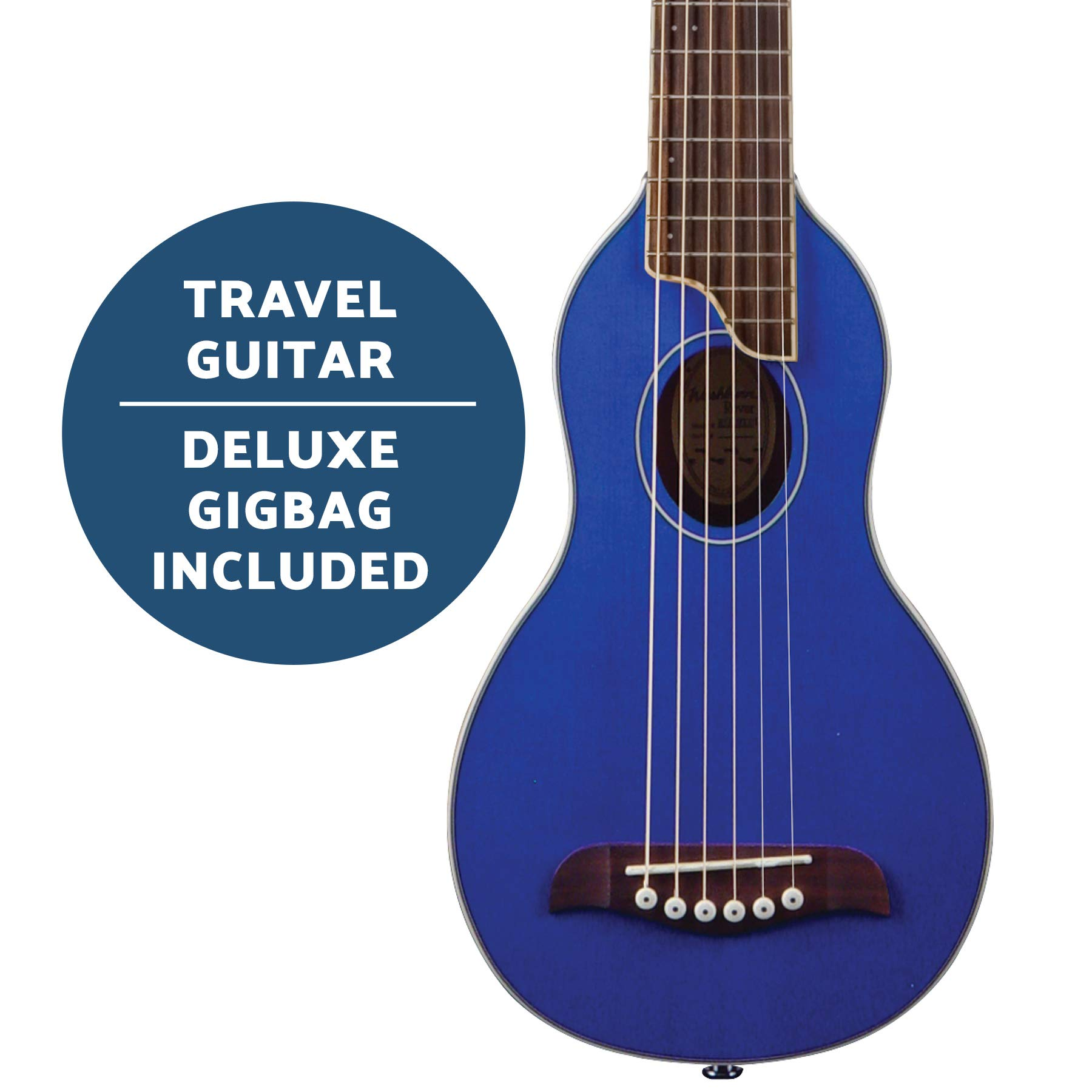 Washburn Rover 6 String Acoustic Guitar Pack, Right, Trans Blue, Full (RO10STBLK-A) by Washburn