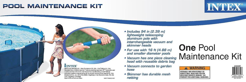 Amazon.com: Intex - Kit de limpieza para piscina con piscina ...
