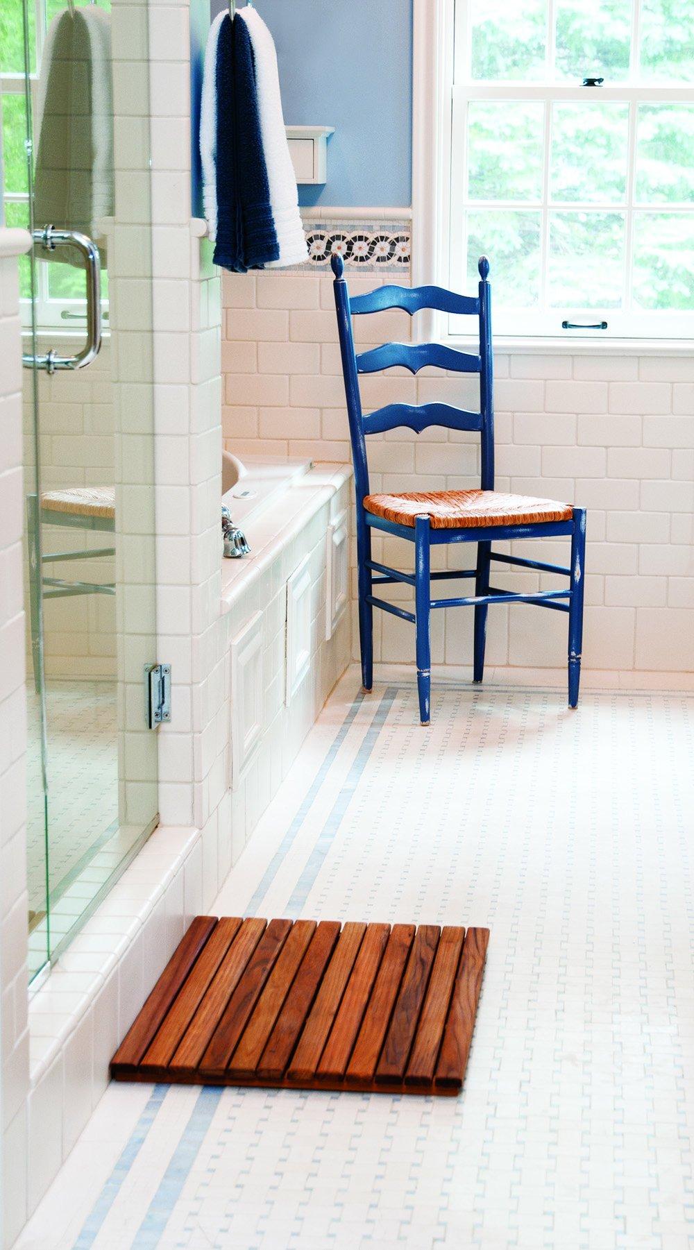 Teak Shower/Bath Mat (25'' x 18'')