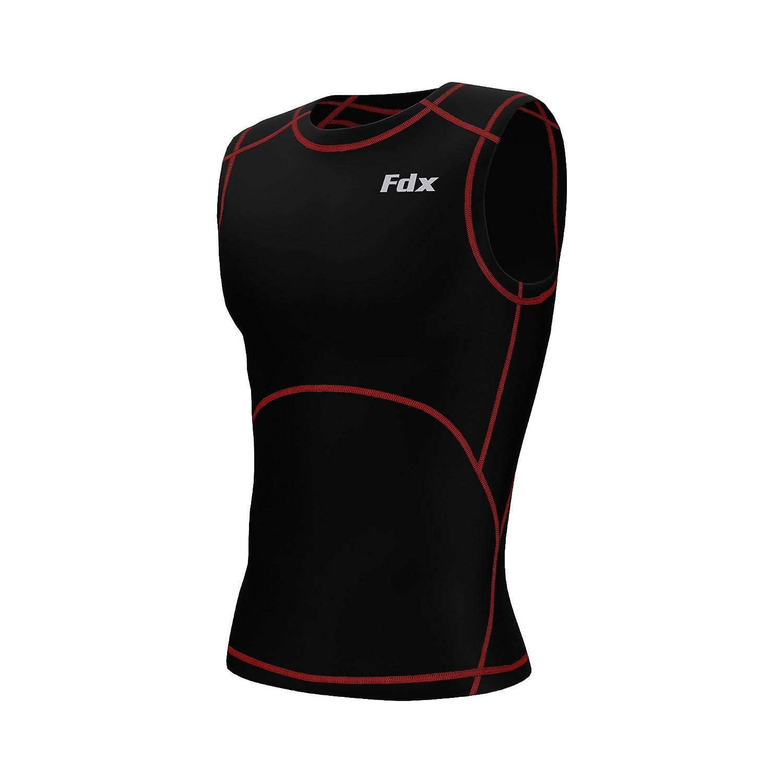FDX Tee-shirt de compression seconde peau sans manches pour homme Sport course /à pied