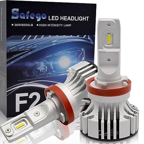 H11 LED Faro Bombillas Kit - Safego 72W H8 H9 LED Chips 6000LM LED Coche Kit