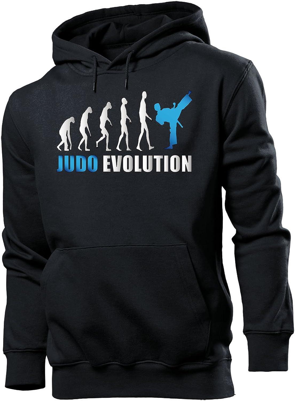 love-all-my-shirts Judo Evolution Kampfsport M/änner Herren Hoodie Pulli Kapuzen Pullover Kapuzenpullover Sportbekleidung Sport