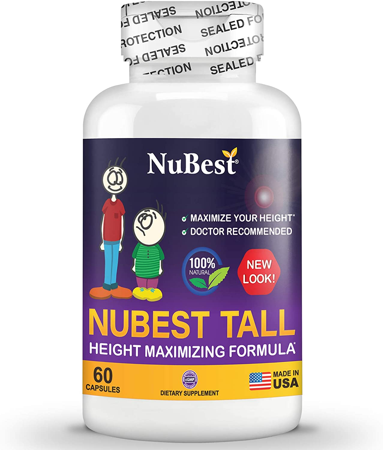 Amazon Com Maximum Natural Height Growth Formula Nubest Tall 60