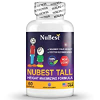 Maximum Natural Height Growth Formula - NuBest Tall 60 Veggie Capsules - Herbal...