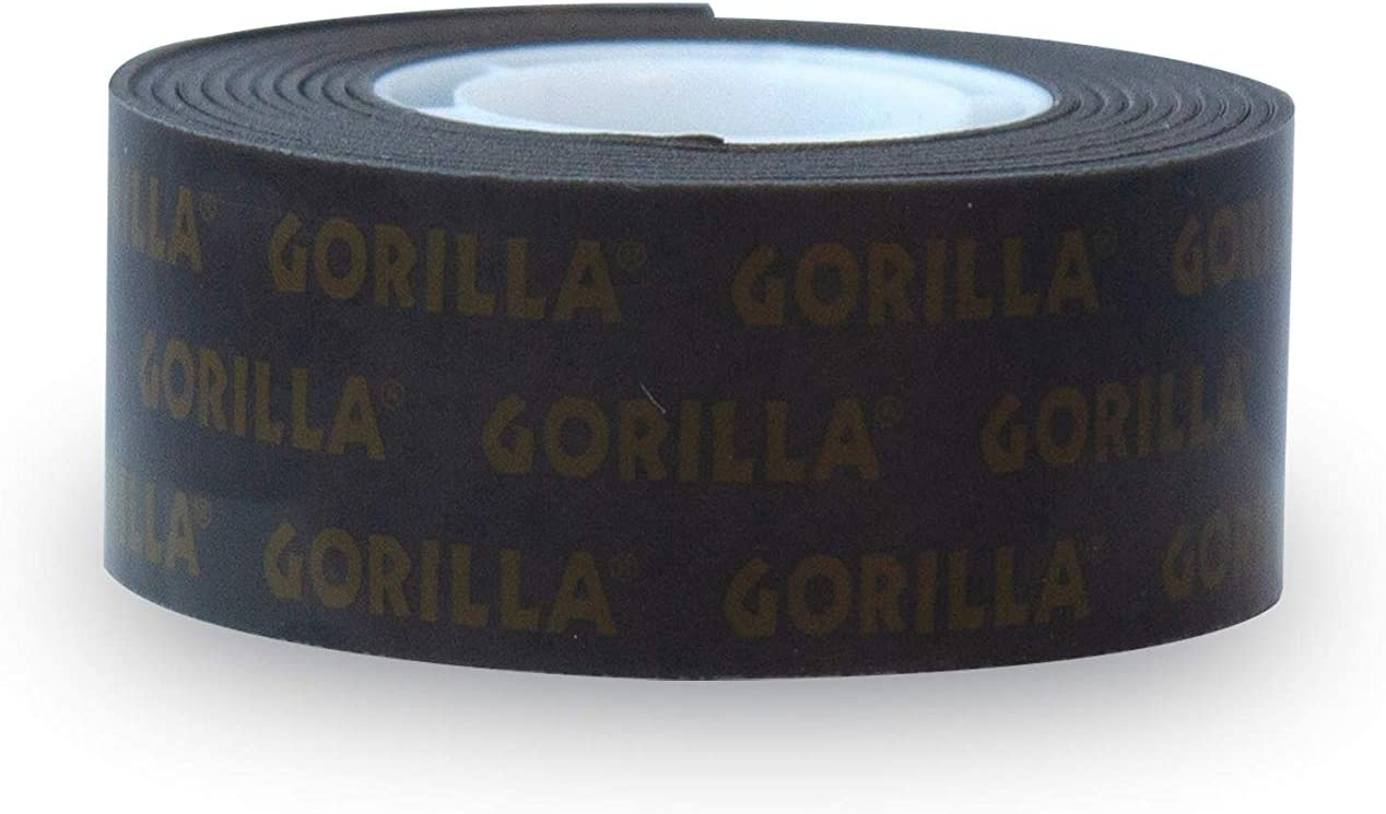 """Gorilla Heavy Duty Double Sided Mounting Tape, 1"""" x 60"""", Black, (Pack of 1): Home Improvement"""
