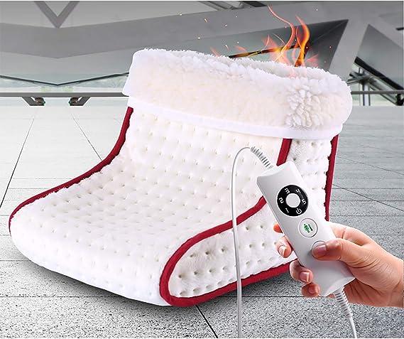 Fodera Lavabile POLPqeD 24w Scaldapiedi 5 Livelli di Temperatura Spegnimento Automatico Riscaldamento Elettrico dei Piedi con regolatore intelligente del termostato Protezione da Surriscaldamento