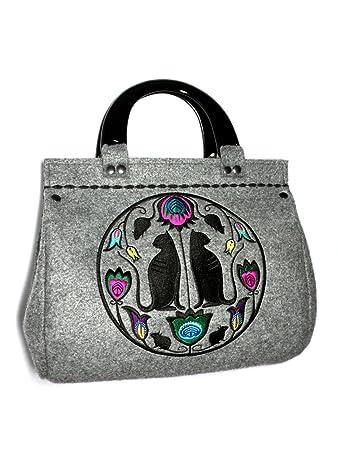 3c93b64617980 Goshico Folk Cats Handbag  Amazon.co.uk  Luggage