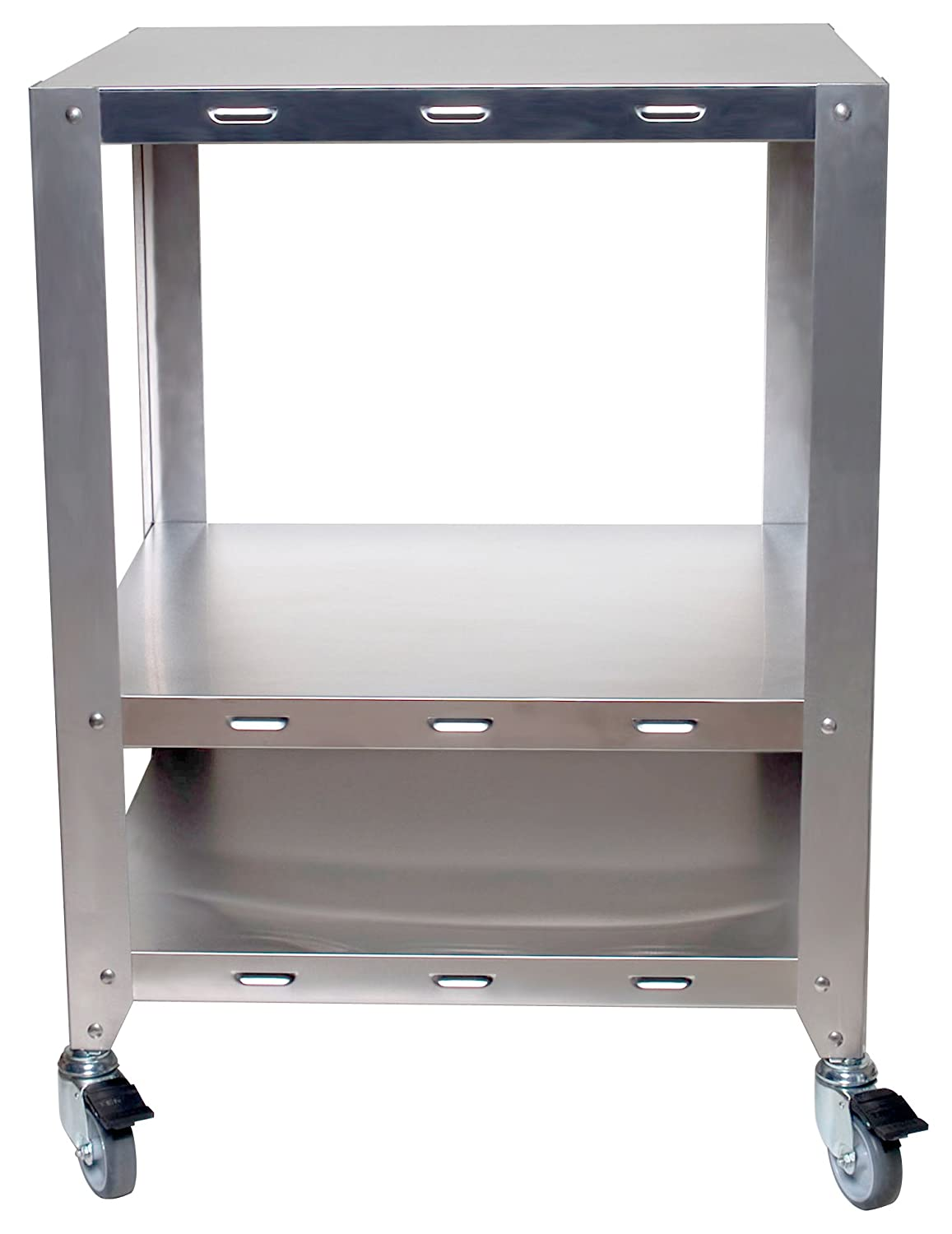 Cadco OV-HDS 2-Oven Heavy-Duty Stand with Wheels for Half or Quarter Size Cadco Ovens, Stainless