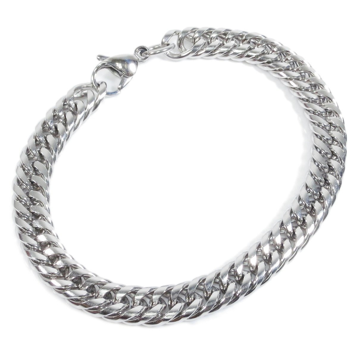 Stainless Steel Tight Double Link Curb Chain Bracelet 8mm Steelmeup 1Zk-010