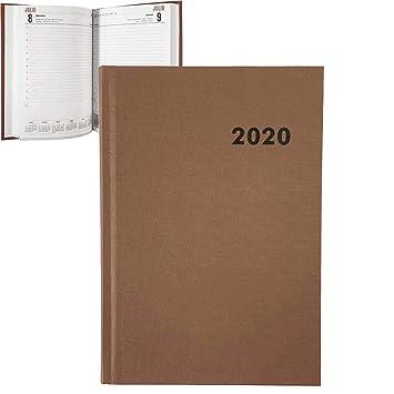 Agenda Anual Modelo París 2020 marrón: Amazon.es ...