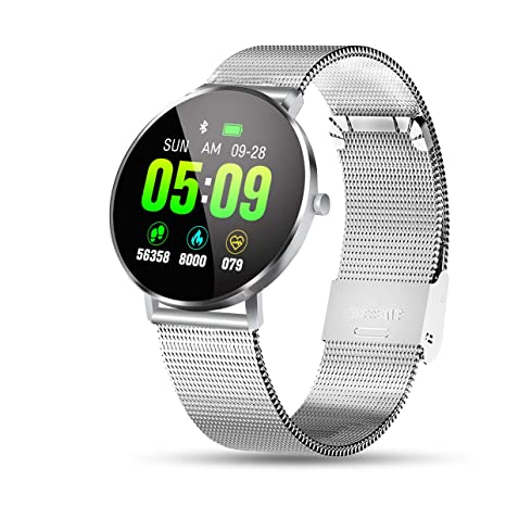 OUTERDO Smartwatch, Fitness Pulsera estanco IP68, Fitness ...